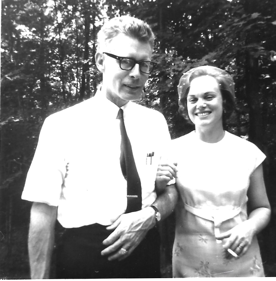 July 1966 – Em and Judy Batdorff (nee Boyd) at their wedding. Judith was a public school math teacher, second in command of the secretarial pool at Squires Sanders and Dempsey and a self-employed residential landscape designer.