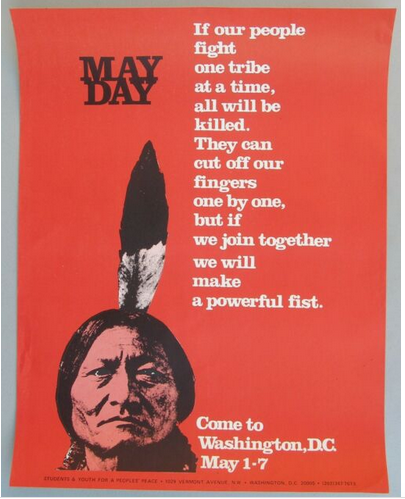 This poster was posted at many college campuses during early spring 1971.