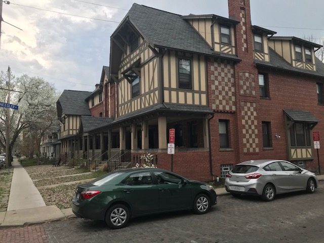 Russell Berusch renovated this building with five row houses turned into a rooming house with 30 rooms. Photo: Lee Batdorff