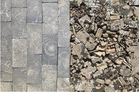 How long will a deteriorating wood block Hessler Court last? Photos: Lee Batdorff