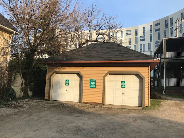 This innocuous century-old two bay garage that is part of the Hessler Historic District serves 363 days a year as incidental storage for University Circle Inc. and two days a year as the Hessler Hall of Fame and Museum. Photo: Lee Batdorff